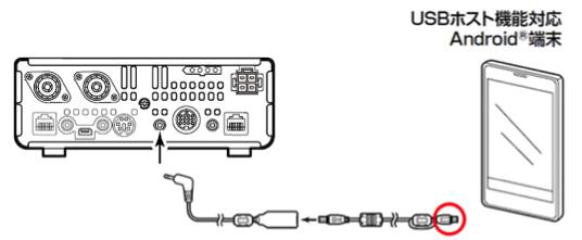 IC-7100とAndroid端末を接続する