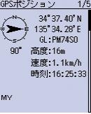GPSポジション画面